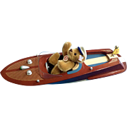 Steiff Teddy Bear and Motor Boat Set Style: EAN 037405 Discontinued Limited Edition of 2006 ..