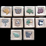 Letter Baby Blocks OOAK One of a Kind Vintage Hand Carved Wooden Children's Stacking ...