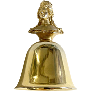 Vintage Table Metal Bell Mary II 1668 -1694 Queens of England Collection Figurine A. Procopio
