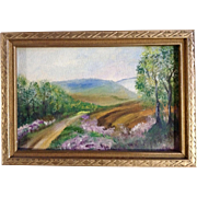 Road Into The Country, Small Oil Painting on Canvas Board