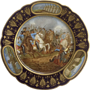 Sevres France Hand Painted Porcelain Cabinet Plate Signed By Artist Moreau, Battle of ...