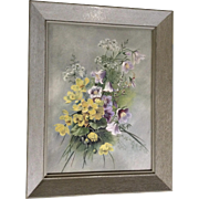 Stunning Large Vintage Shabby Chic Wildflower Bouquet Oil Painting on  Devoe & Raynolds Board