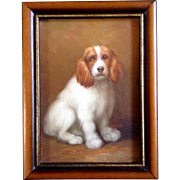 SOLD Original Oil Painting on Canvas Board, Sitting Cocker Spaniel