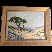 SOLD Windblown Cypress Tree West Coast California Beach, by Artist S. A. McCord, Original Oil