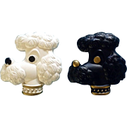 Miller Studio Chalkware Dogs French Poodle Wall Hangings Pair Retro 1978