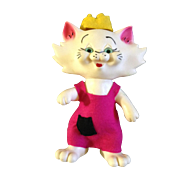 ROX DES Cat Rare 1969 Vintage Advertising Coin Bank Florida Hard Rubber Kitty Cat 9 ...