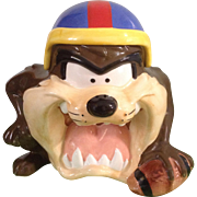 Taz Cookie Jar Warner Bros. Looney Tunes Football Tasmanian Devil with Original Box 1993 ...