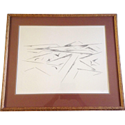 "SOLD Original Andrew Michael Dasburg (1887 - 1979) ,""Llano Quemado I"" Signed by Artist lit"