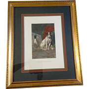 "William Herbert Weakes, ""Guilty Conscience"" Jack Russel Terrier Dog Picture Large ..."