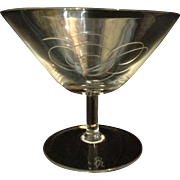 """Rosenthal Crystal Glasses Decorated """"Script"""" Modern Pattern by the Noted Designer Ra"""
