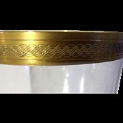 Gold Pattern Trim Crystal Wine Champagne Glasses Celtic Braid 11 Vintage 1/4 Inch