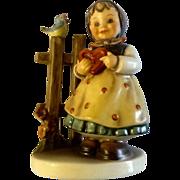 """Hummel Figurine """"Sweet Greetings"""" # 352 Goebel Little Girl Holding Hart With Song Bird 4-"""