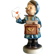 "Hummel Figurine ""Postman"" # 119 Goebel A Little Mail Man Boy 5 -1/2"""
