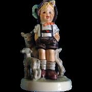 "Hummel Figurine ""Little Goat Herder"" # 200/0 Goebel Little Boy With His Goats 4 -3/4"""