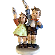 "Hummel Figurine ""Auf Wiedersehen"" # 153 Goebel Little Girl And Boy Waving 6 -1/2"""