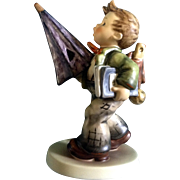 "Hummel Figurine ""Is It Raining? Regret's"" #420 Goebel Little Boy With a Umbrella 6 ..."
