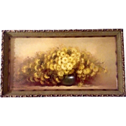 """Marjorie Sharpe, Painting, """"Yellow Marguerites"""" Beautiful Daisy Floral Still Life, Signed"""