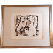 Original John Haymson (1902-1980), Pen & Ink, Watercolor Mixed Media Works on paper, Signed By
