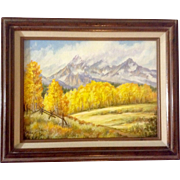 SOLD Febe, Signed by Artist, Oil Painting on Canvas Board, Sierra Nevada Mountains in the Fall