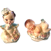 Josef Originals Baby Sleeping & Prince King Figurines Vintage Set  1950-1960