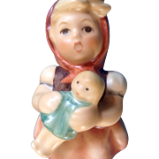 "Hummel, Girl With Doll 3-1/2"" German Figurine (Goebel  Hummel 239/B, TMK 4)"