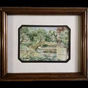SARAH HAIRGROVE Watercolor Works on Paper Painting Original Texas Artist