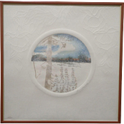 Juan Quevedo, Snowy Pine Forest, Exquisite Original Limited Edition Hand Colored Watercolor ..