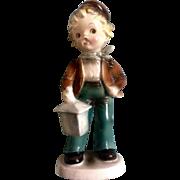 Inarco E1325 Boy Holding Lantern Japan Porcelain Ceramic Figurine Mid-Century