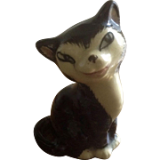 Figaro Cat Miniature Clay Ceramic Figurine Black and White from the 19th Century Pinocchio ...