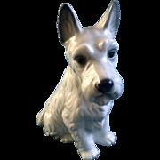"Harvey Knox Scottish Terrier White Dog H227A83 Ceramic Figurine  9-3/4 "" Vintage HHH ..."