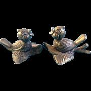 Mod. Dep. Italy Bird Brass Metal Colored Adorable Vintage Figurines