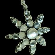 Antique Moonstone Star Pendant Brooch