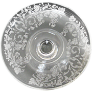Depression Glass Ivy Etched Compote