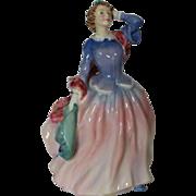 "Vintage Royal Doulton Figurine ""Blithe Morning"" 7 1/2"" - HN2021 TH - 1948 Signe"