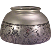 Antique Glass Frosted Floral Lamp shade