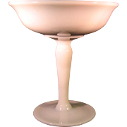 Vintage White Milk Glass Compote Candy Dish - Simple Smooth Design