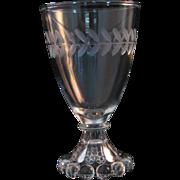 Vintage Anchor Hocking Boopie Candlewick Laurel Etch Pattern Set of 6 Cordial Glasses 4 1 ...