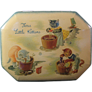 SOLD Vintage Three Little Kittens Lost their mittens Tin made in England
