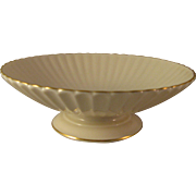 Classic Lenox Ivory Porcelain Dish Compote with Gold Trim Made in USA