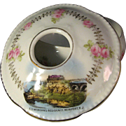 Vintage Souvenir Porcelain Hair Receiver from Newport, RI - Made in Austria for Kazanjian & Co