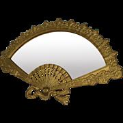 Vintage Iron Art Fancy Fan Vanity Dressing Table Mirror JM61