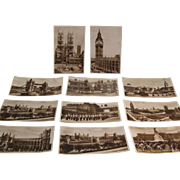 Late 19th Century London Photo Postcard Collection of 11 by James Valentine