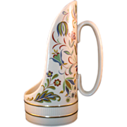 Lenox Handled Single Candle holder - Pennsylvania Dutch Design