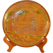 1991 Limited Edition Redware Sgraffito Decorated Plate Commemorating the Bicentennial of The .
