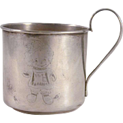 Beautiful Webster Sterling Silver Baby Cup Engraved Raggedy Ann Figure Decoration