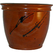 Beautiful 1989 Redware Flower Pot Brown Manganese Glaze By Lester Breininger Robesonia ...