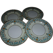 PARAGON, ADAM Pattern, 4 Salad plates, Queen Ware