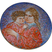 Beautiful EDNA HIBEL Mother Day plate 1985 Limited editions