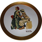 SALE Living American Artist an annual series Plate  NORMAN ROCKWELL