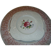 SALE Beautiful  BIRBECK ROSE, by George Jones and Sons,  Square salad plate